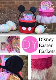 personalized mickey mouse easter basket diy disney easter baskets