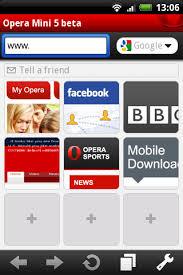 opera mini 7 5 apk opera mini 5 beta released for android