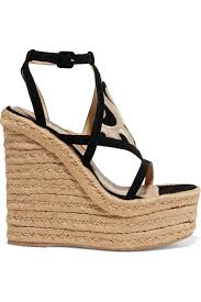 paloma barceló dalì cutout embroidered nubuck espadrille wedge