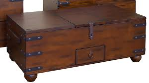 large wooden coffee table treasury pirate chest medieval storage