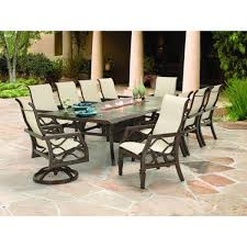 Ty Pennington Furniture Collection by Castelle Villa Bianca Sling Dining Set Patiosusa Com