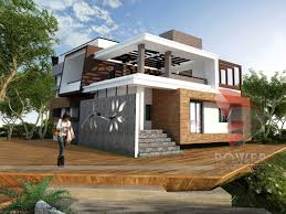 architect home design modern house architecture front view home act