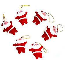 santa ornaments 12 pack 4 metal home