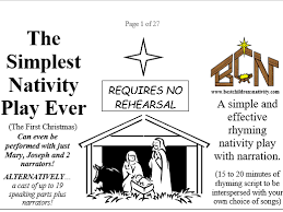 simple nativity play preparation done ready to just print and