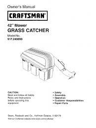 craftsman 3 bin craftsman bagger 917 249890 mower tractor