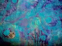 peacock turquoise hoffman pattern batiks
