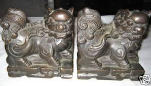 foo dog sculpture antique armor bronze burma foo dog statue sculpture
