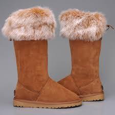 womens ugg boots fox fur ugg 5369 australia fox fur boots for chestnut