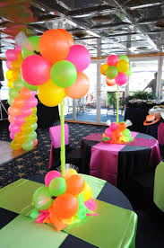 Table Decorating Balloons Ideas 80 U0027s Theme Party I Could Have My Mom Make These For Me U2026 Pinteres U2026