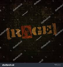 grunge poster rage vector colorful text stock vector 493043272