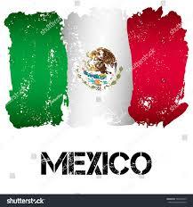 flag mexico brush strokes grunge style stock vector 501046723