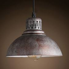 Antique Pendant Light Antique Rust Finish And Bowl Shade 8 4 Wide Mini Pendant Light In