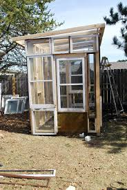 Shed Greenhouse Plans Remodelaholic Clearly Awesome Recycled Window Greenhouse Guest