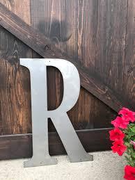36 metal letters large monograms rustic letters rusted metal