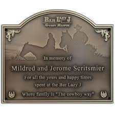 bronze memorial plaques cowboy memorial plaques custom memorial plaques