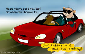 congrats on your new card congrats on new car free new car license ecards greeting cards