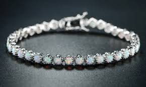 bracelet jewelry tennis images Up to 70 off on opal tennis bracelet by peermont groupon goods jpg