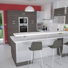 largeur bar cuisine meuble de cuisine blanc delinia leroy merlin les 32