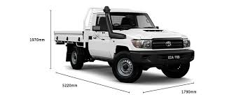 weight of toyota land cruiser single cab workmate specifications lc 70 toyota australia