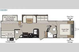 Keystone Rv Floor Plans New 2018 Keystone Rv Passport 3350bh Grand Touring Travel Trailer