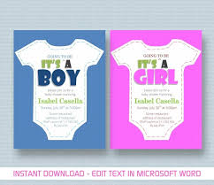 free baby shower invitation templates for word free baby shower