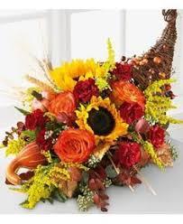 cornucopia basket faux floral centerpiece thanksgiving