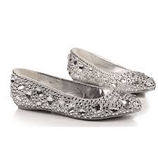 wedding shoes daily comfortable flats silver shoes for wedding or daily use