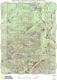 Lake Placid New York Map by Algonquin Peak