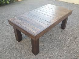 Wood Projects Coffee Tables by Delighful Rustic Coffee Table Plans W Planked Top Free Diy To