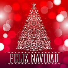feliz navidad christmas card feliz navidad merry christmas text card vector