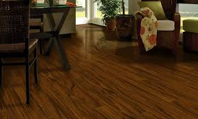 small dining room spaces with wide plank laminate wood flooring