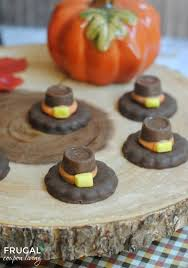 thanksgiving food craft pilgrim hats fall tradition