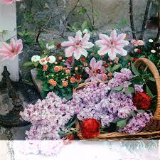 basket of flowers basket of flowers at reddish house by cecil beaton