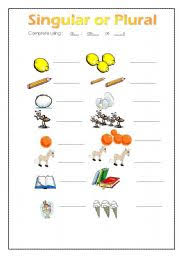 english teaching worksheets singular and plural