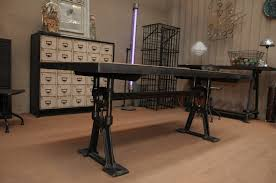 Adjustable Pedestal Table Base Awesome Adjustable Industrial Rectangle Dining Table Using Solid