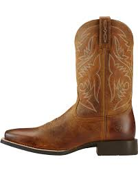 ariat s boots canada ariat powder brown sport herdsman cowboy boots square toe