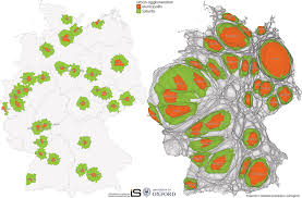 Freiburg Germany Map by The Growth And Decline Of Urban Agglomerations In Germany Views
