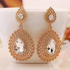 gold earrings for wedding aliexpress buy wedding earring for women gold color