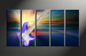 5 piece guitar colorful music large pictures