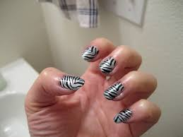 cool nail designs zebra print nails sheknows this gold blue