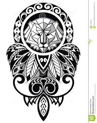 tattoo design lion tattoo design with lion stock vector image 61058674