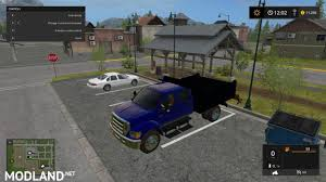 Ford F350 Dump Truck With Plow - f650 dump truck mod farming simulator 17