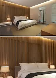 bedroom wall design idea create a wood slat accent wall