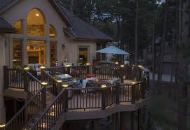 deck lights create ambiance for your deck outdoor living inc