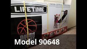 unbox install double shot basketball arcade game lifetime