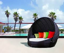 Daybed With Canopy Rb 016 Outdoor Round Day Bed With Canopy