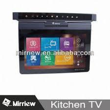 kitchen televisions under cabinet mirriew 10 1 flip down kitchen tv under cabinet portable kitchen