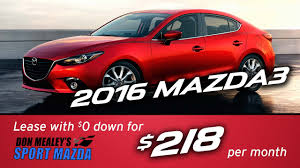 mazda finance new 2016 mazda3 leasing and finance specials at sport mazda