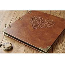 rustic wedding photo albums personalized scrapbook albums large leather photo album