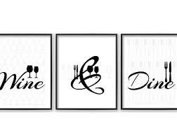 Wall Art For Dining Room Ideas by Dining Room Wall Art Etsy